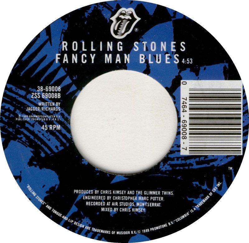 Rolling Stones Fancy Man Blues 45rpm Record